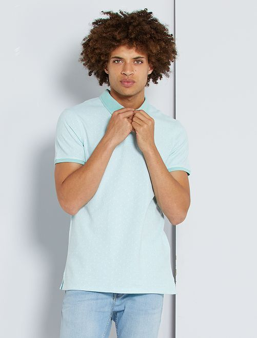 Polo slim de lunares                     BLANCO