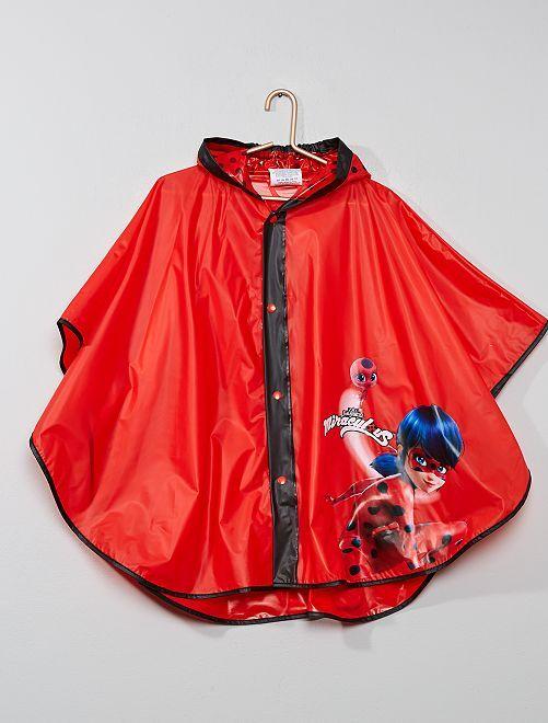 Poncho chubasquero 'Miraculous'                             rojo