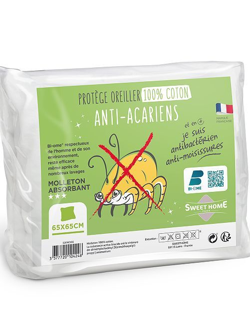 Protección antiácaros para almohada                             blanco