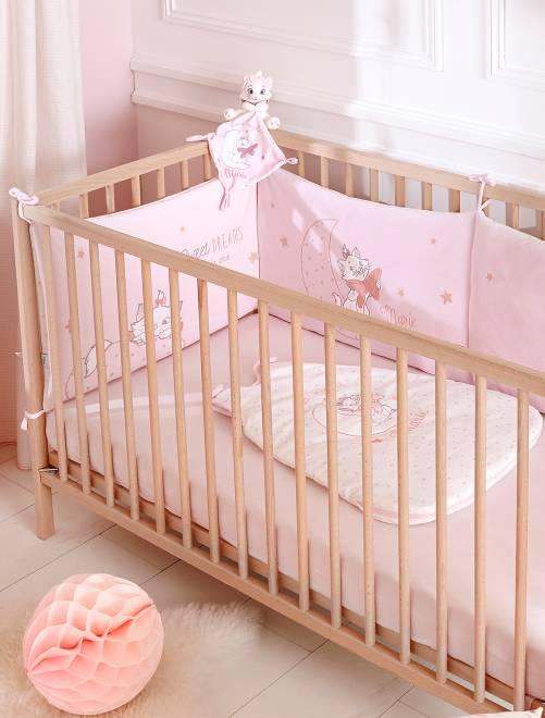 Protector de cuna de terciopelo 'Disney' rosa pálido Bebé niña
