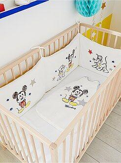Niño 0-36 meses Protector de cuna de terciopelo 'Mickey'