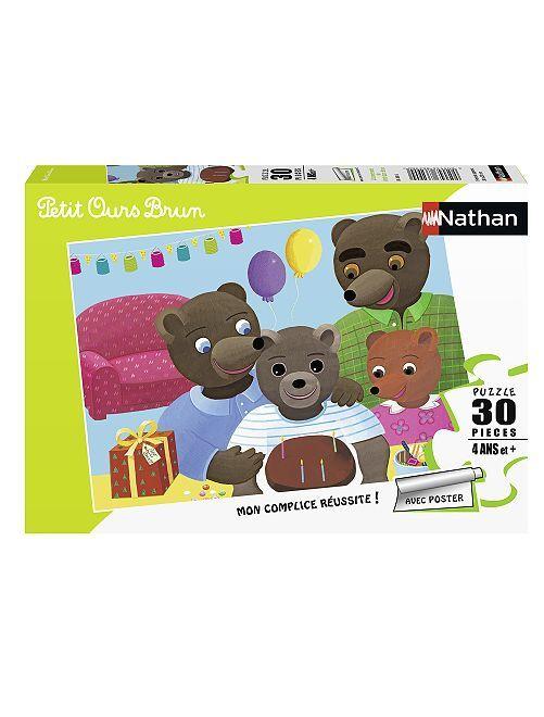 Puzzle 'osito marrón' 30 piezas                             multicolor