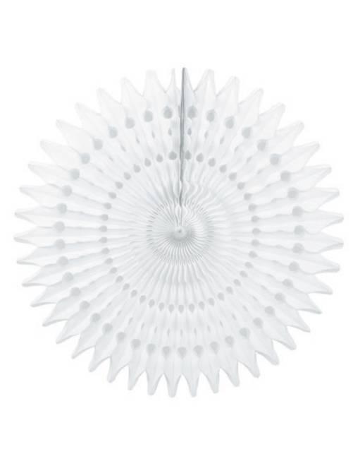 Rosetón de papel 53 cm                                         blanco