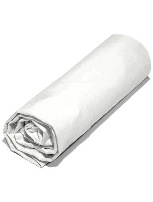 Sabana bajera lisa de 160 x 200 cm                             blanco Hogar