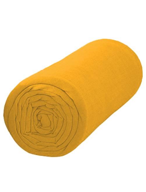 Sábana bajera lisa de 90 x 200                                         amarillo Hogar
