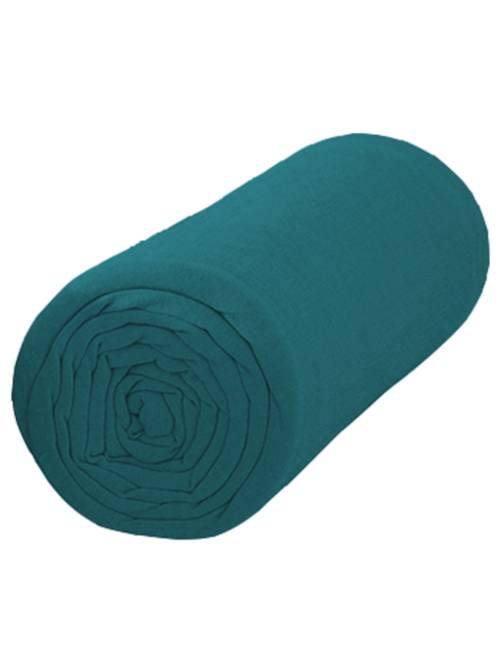 Sábana bajera lisa de 90 x 200                                         azul Hogar