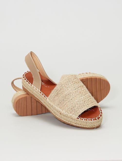 Sandalias abiertas                                         beige