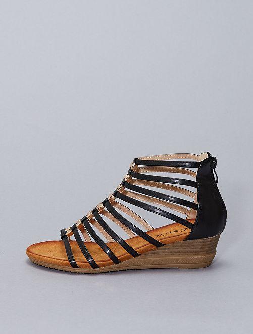 Sandalias altas sintéticas                                         negro