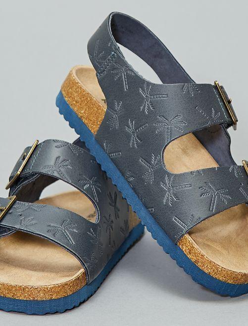 Sandalias brillantes de estilo guepardo                                         azul navy Chico