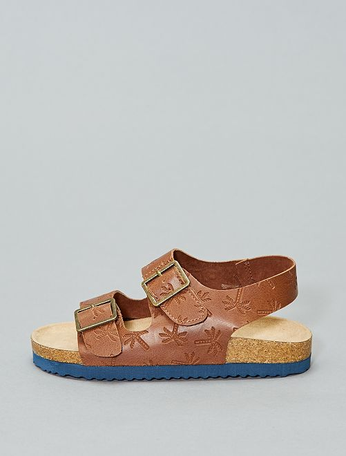 Sandalias brillantes de estilo guepardo                                         MARRON Chico