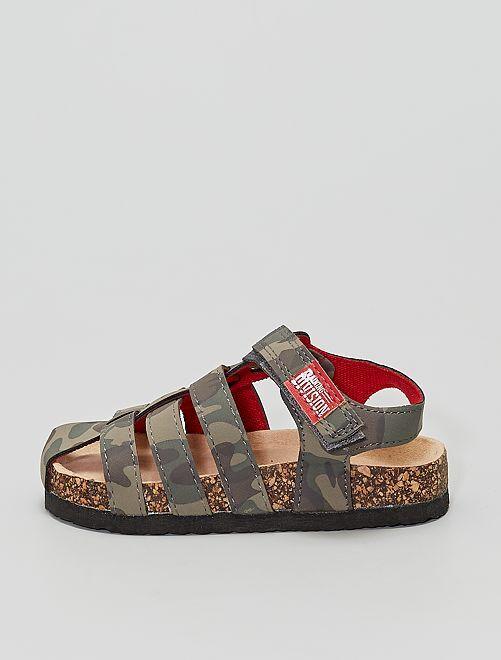 Sandalias cerradas                             gris oscuro