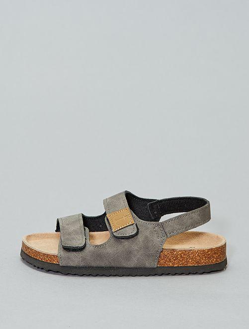 Sandalias cómodas con velcro                             BEIGE Chico
