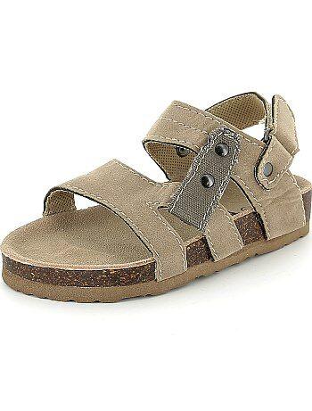 Sandalias cómodas de antelina - Kiabi