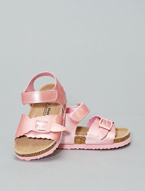 Sandalias cómodas irisadas                             rosa Zapatos
