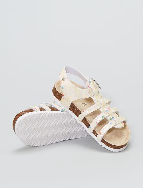 Sandalias con brillos                             multicolor
