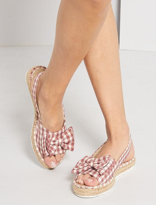 Sandalias con cuadros                                         rosa