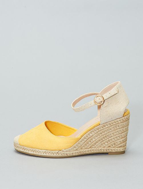 Sandalias con cuña                                         amarillo Mujer talla 34 a 48