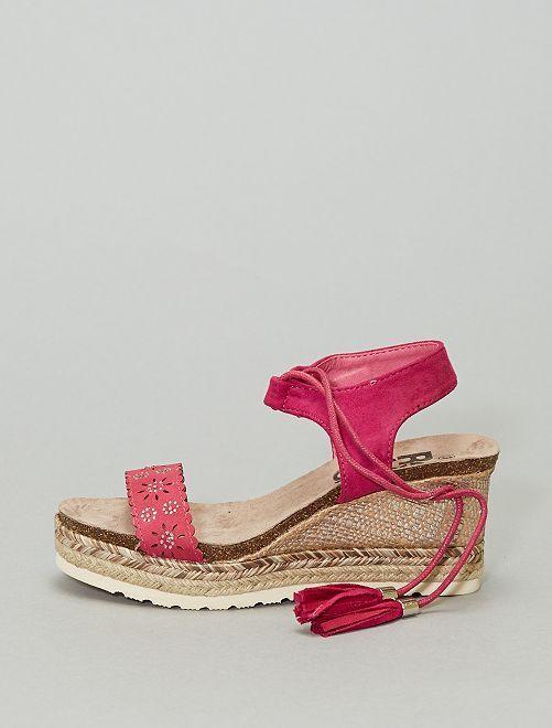 Sandalias con cuña                             fucsia