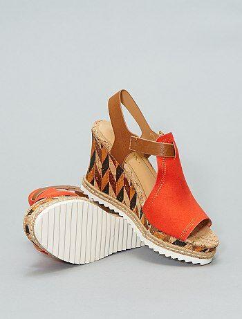 944a9610 Zapatos Mujer talla 34 a 48 | naranja | Kiabi
