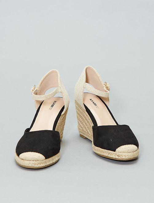 Sandalias con cuña                                         negro Mujer talla 34 a 48