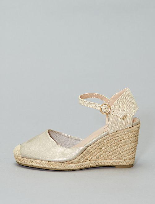Sandalias con cuña                                         plata Mujer talla 34 a 48