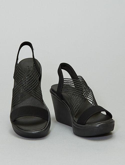 Sandalias con cuña 'Skechers'                                         negro