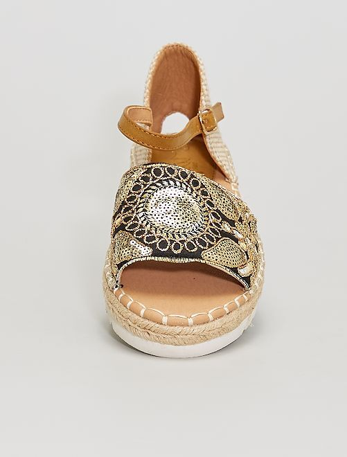 Sandalias con lentejuelas                             BEIGE