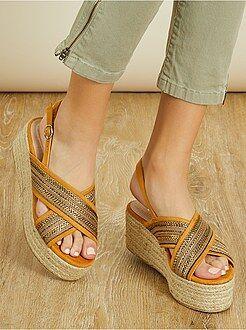 Zapatos mujer - Sandalias con plataforma - Kiabi
