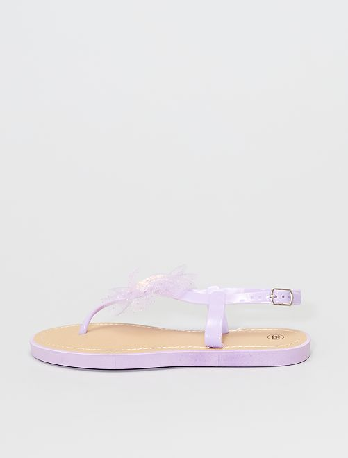 Sandalias con separación de dedos                                         PURPURA