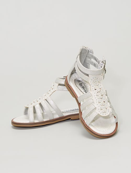 Sandalias con strass                             blanco