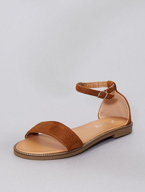 Sandalias con strass                                                                             camello