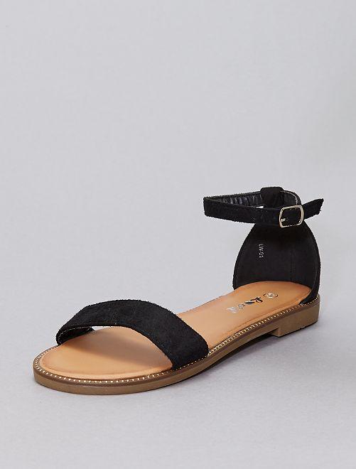 Sandalias con strass                                                                             NEGRO