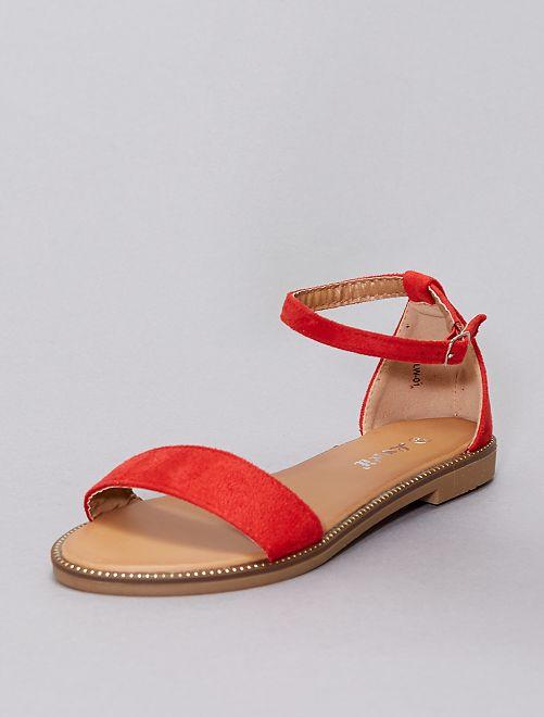 Sandalias con strass                                                                             rojo