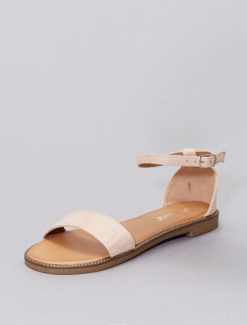 Sandalias con strass                                                                 rosa