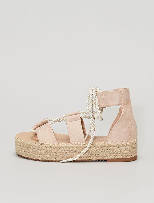 Sandalias con suela gruesa                                         BEIGE