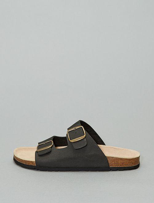 Sandalias con tiras regulables                             negro