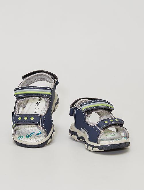 Sandalias con velcro                             azul navy