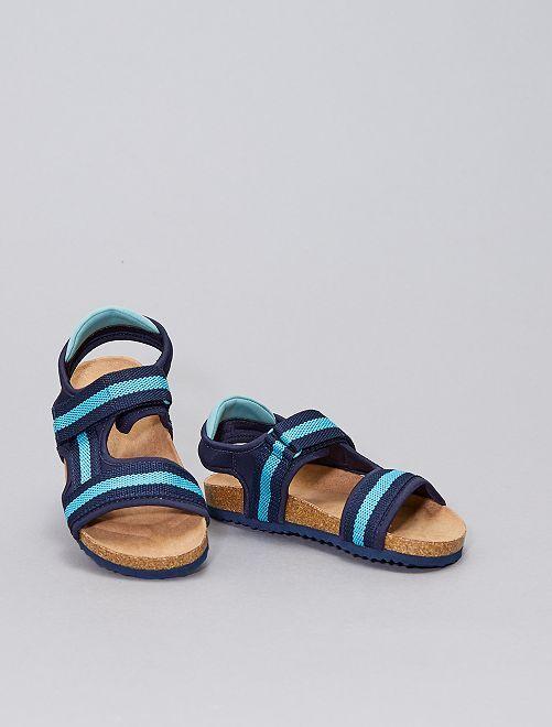 Sandalias con velcros                             azul navy