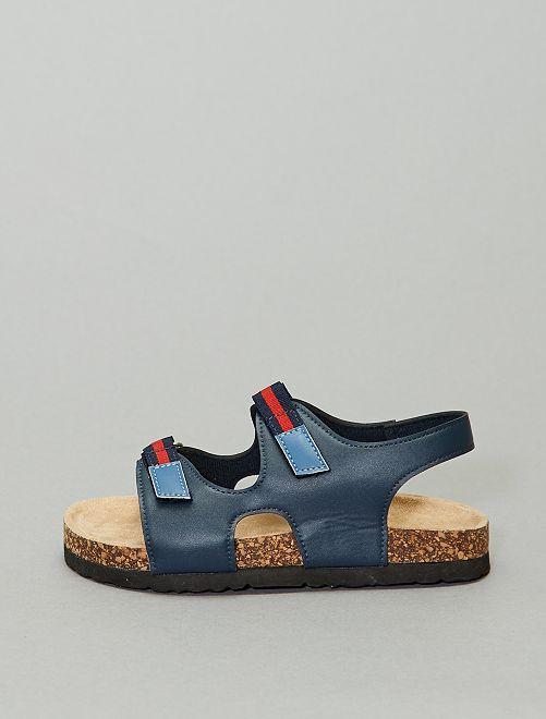Sandalias con velcros                             AZUL