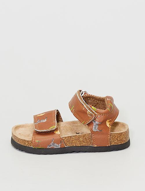 Sandalias con velcros                             beige