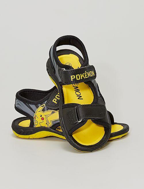 Sandalias con velcros 'Pikachu' 'Pokemon'                             NEGRO