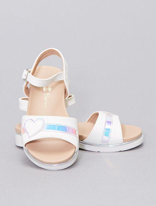 Sandalias 'corazón'                             blanco
