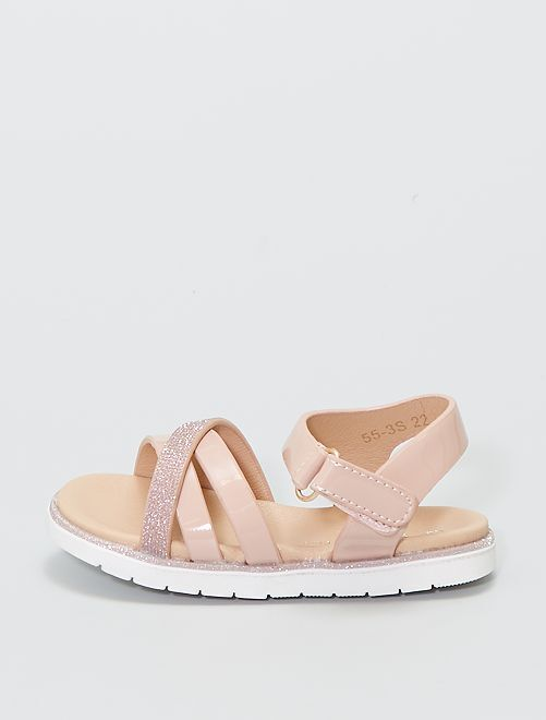 Sandalias cruzadas                             ROSA