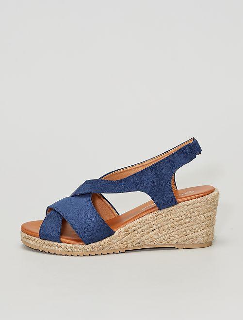 Sandalias de antelina                     AZUL