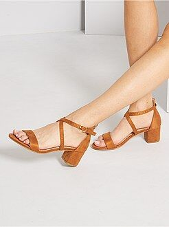 Zapatos - Sandalias de antelina - Kiabi