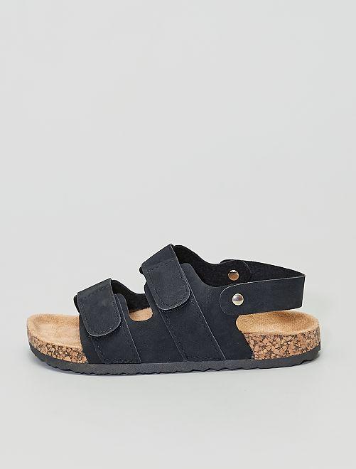 Sandalias de antelina                             negro
