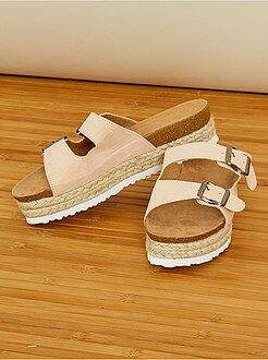 Sandalias de antelina - Kiabi