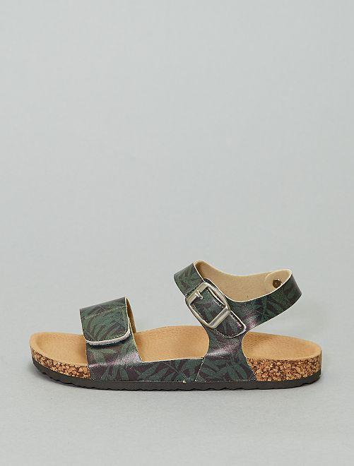 Sandalias de camuflaje con velcros                             VERDE