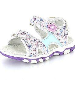 Zapatos, patucos - Sandalias de flores con velcro - Kiabi