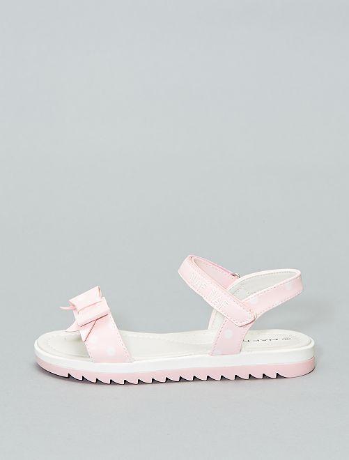 Sandalias de lunares 'Naf Naf'                             ROSA Chica